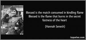 Hannah Senesh Quote