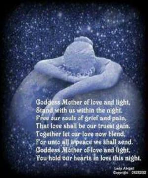 Goddess bedtime devotion