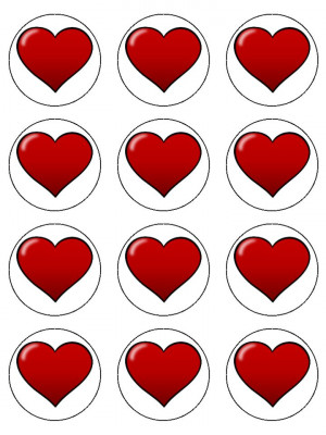Little Red Love Hearts   quotes.