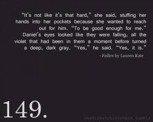 TAGS: Fallen. Fallen Series. Daniel Grigori. Lauren Kate.