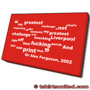 Alex Ferguson Challenge Quote Canvas Print . My greatest challenge is ...