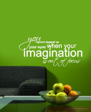 vinyl wall art decal . imagination quote . 22 inches x 25 inches