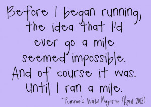 Doing the Impossible: Posts on Running