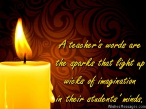 Inspirational quote for teachers to say goodbye