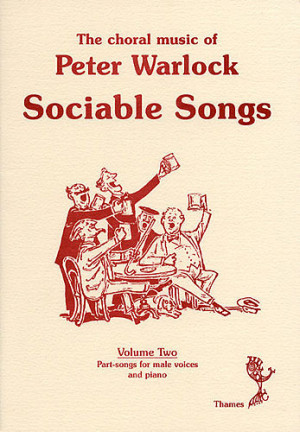 couverture the choral music of peter warlock volume 2 sociable songs 8 ...