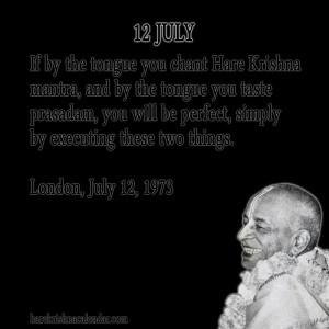 Srila Prabhupada Quotes For Month July 12
