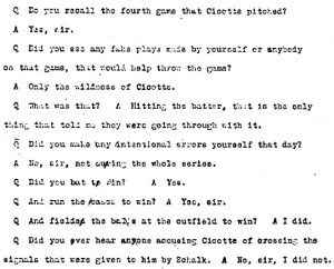 Partial transcript of Jackson's testimony before the Cook County Grand ...