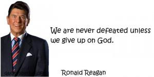 Ronald Reagan Quotes About God Ronald reagan - god faith god
