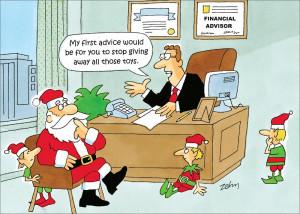 ... Occupation > Accountant > Santa's Financial Advisor Holiday Card