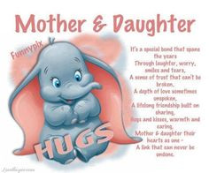 MOTHER and DAUGHTER Original Poem Inspirational Quote Family Print Mom ...