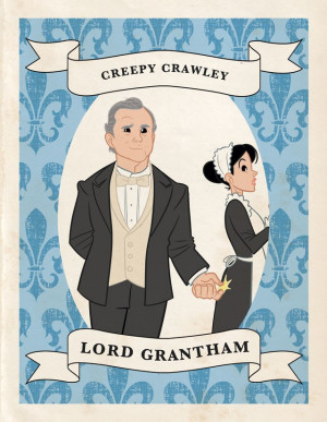 downton abbey paper dolls and trading cards