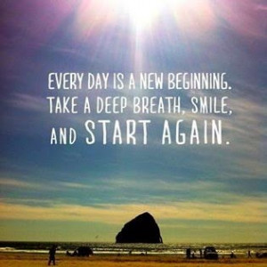 So here's to a new day, a new week, a new season and a fresh start.