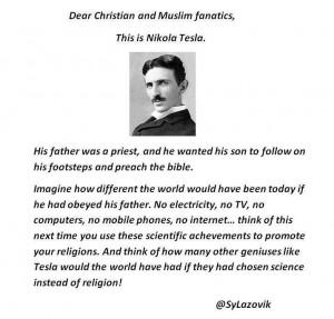 Nikola Tesla science religion