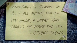 ... all the while a great wind carries me across the sky.