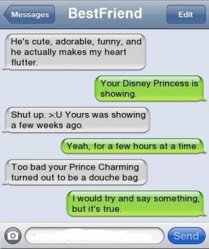 best friends, conversations, princesses, true