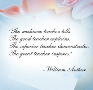 ... quote on your thank you teacher card or gift is something like to add