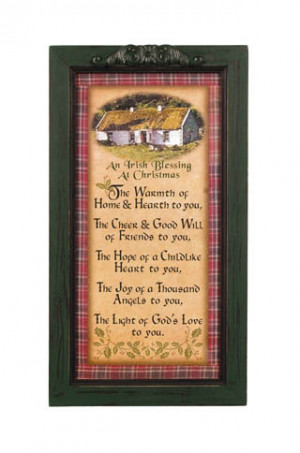 Irish Stuff - Irish Plaques And Signs - Tartan Irish Blessings Frame.
