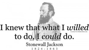 ThinkerShirts.com presents Stonewall Jackson and his famous quote