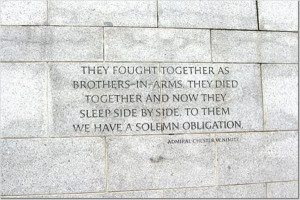 Quotes from WWII Memorial
