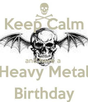 Heavy Metal Birthday Party...