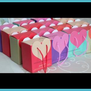10 cajitas para recuerdos de corazon 4 colores dulceros