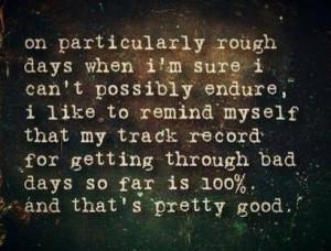 Getting through hard times