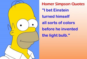 Homer simpsons, quotes, sayings, einstein, funny