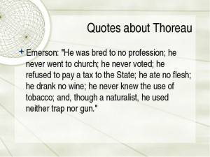 quotes about transcendentalism | Quotes about Thoreau