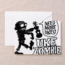 Uke Zombie Greeting Card for