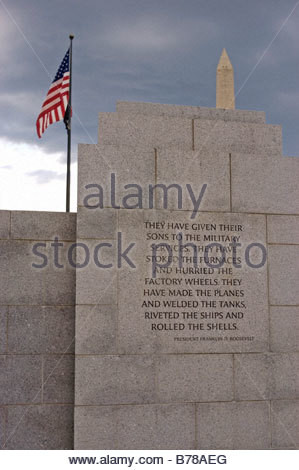 President Franklin D. Roosevelt quote on wall of National World War II ...
