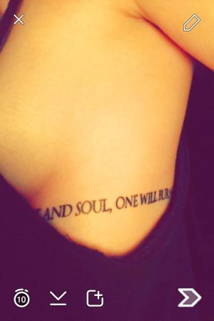 My Joy Division Rib cage/sideboob Tattoo -