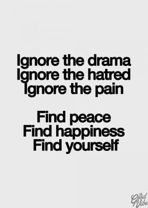 Finding peace and happiness.