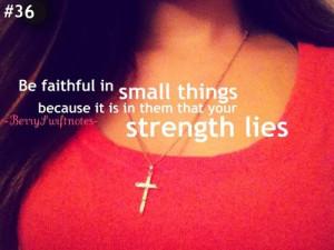 Feeling Being Faithfulwill