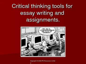 critical tools essay writing assignments is like riding a bicycle