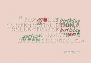 Best 48 birthday quotes messages and sayings by famous peoples ...