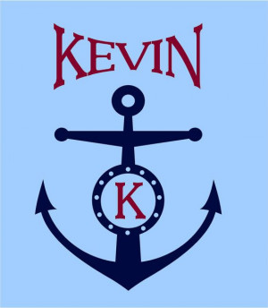 Personalized Mongram anchor Vinyl Lettering words wall quotes graphics ...