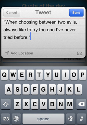 Quote Of The Day for Twitter Released for iPhone