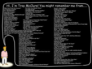 Hi, I'm Troy McClure! You Might Remember Me From...