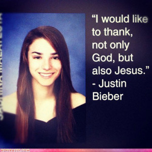 funny yearbook quotes justin bieber jesus