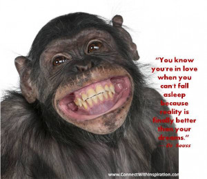 You Know You Are In Love Quote, Inspirational, Monkey