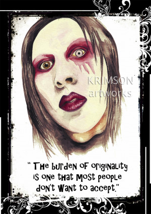 Marilyn Manson with Quote by KrimsonArtworks