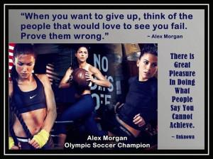 Alex Morgan Olympic Soccer Photo Quote Poster Wall Art Print 8x11 ...