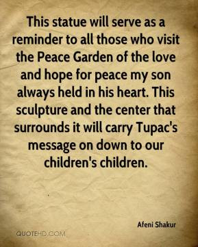 Afeni Shakur - This statue will serve as a reminder to all those who ...