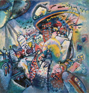 Painter Wassily Kandinsky. Painting. Moscow I. 1916 year