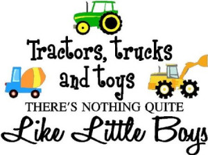 ... little boys (PRINTED trucks) cute inspirational home vinyl wall quotes