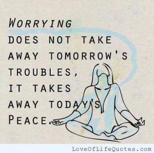 krishnamurti quote on worrying ernest hemingway quote on worrying ...