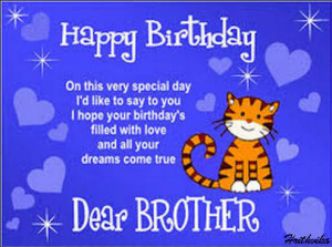 lovely ecard for your beloved brother on this birthday.