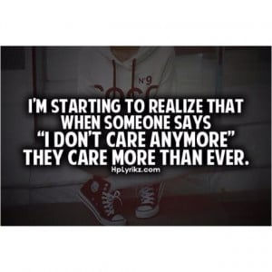 don't care anymore.