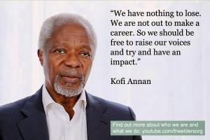 Kofi Annan Wisdom Quote