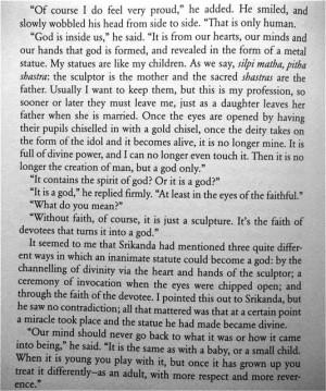 Chola Quotes A chola bronze idol maker.
